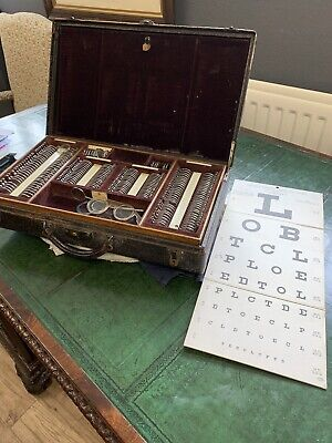 £275 • Buy Antique Opticians Eye Test Case And Lenses