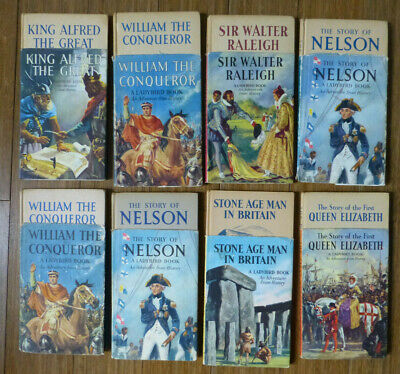 8 Ladybird Books W. DJ Series 561 Adventure From History - King Alfred, Raleigh  • 20£
