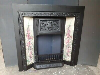 Victorian Style Cast Iron Tiled Fireplace • 250£