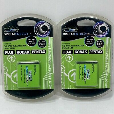 Battery For Kodak KLIC-7004 Fuji-NP50 And Pentax D-L168 New Pack Of 2 Old Stock • 7.12£