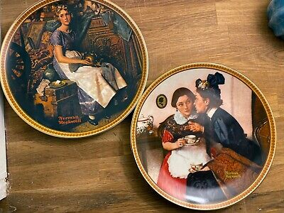 $ CDN37.60 • Buy Norman Rockwell - 2 Rediscovered Women Collectable Plates
