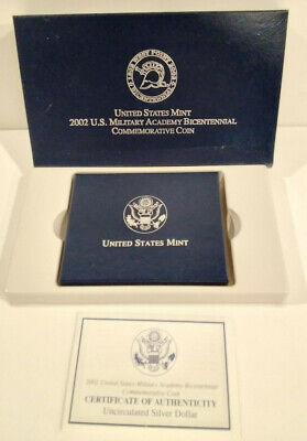 $54.95 • Buy Lot Of 2 ~ 2002 US Military Academy Bicentennial Coins ~ US Mint ~ 90% Silver
