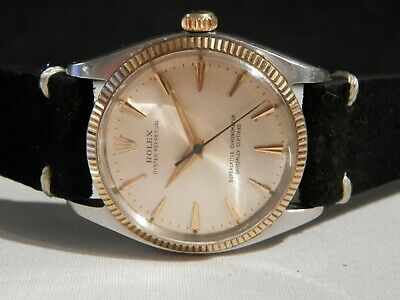$ CDN3345.89 • Buy Immaculate Gents Vintage Rolex Oyster Perpetual 1005 SS/14K Bezel---Gorgeous!!!