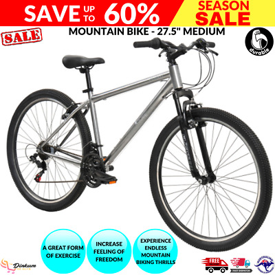 AU276.89 • Buy Mountain Bike 27.5-Inch Medium Sport Outdoor Cycling Bicycles -Silver/Black NEW