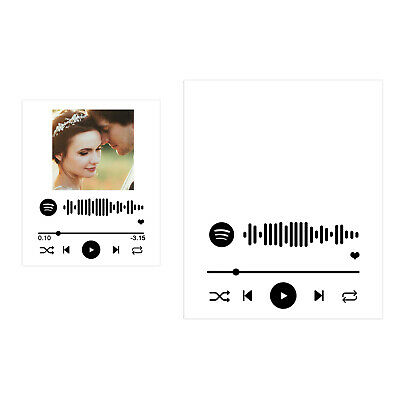 AU14.93 • Buy Fashion Custom Personalised Spotify Track Song Plaque Any Photo Album Cover