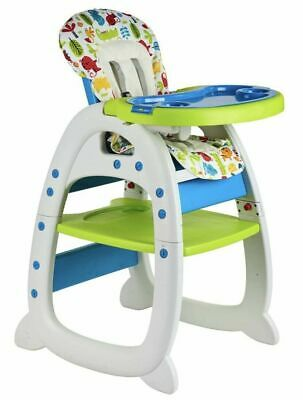 3 In 1 Baby Highchair Toddler Table Chair Green Infant Feeding Seat BEEHAPPY • 56.95£