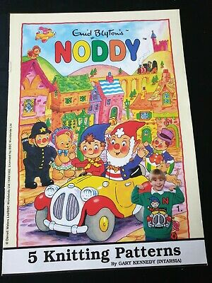 Noddy 5  Knitting Patterns Jumpers  By Gary Kennedy Dk. Sizes 22-40   • 4.10£