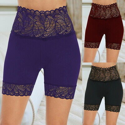 Womens Cycle Shorts Ladies Lace Trim Cycling Shorts Stretch Leggings Pants New • 5.99£