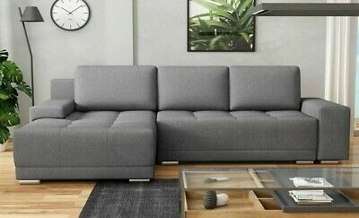 £489 • Buy Corner Sofa Bed DAVOS With Storage Container Universal Corner Side Springs New