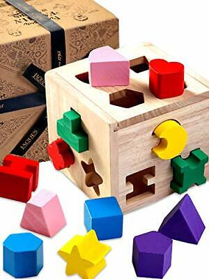 £21.99 • Buy – Shape Sorting Cube | Shape Sorter | Perfect Wooden Toys