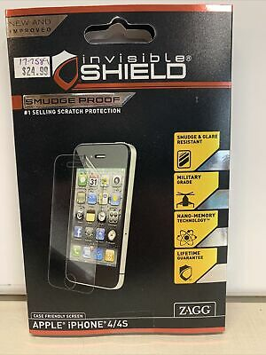 £5.67 • Buy ZAGG Invisible Shield Smudge-Proof For IPhone 4 4S Screen Protector - NIB Sealed