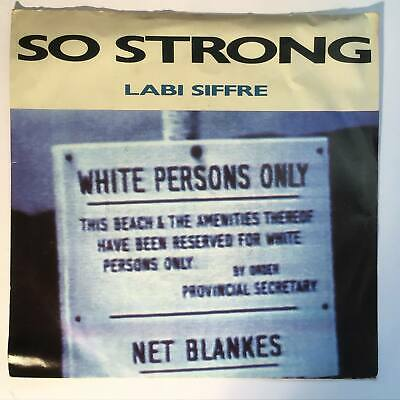 LABI SIFFRE So Strong Ex 1987 UK China Records Pop P/S 7  • 3.75£