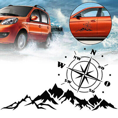 $12.50 • Buy  Compass Mountain Tree Graphics Sticker Decal Fit For Car Off-road Camper Decor
