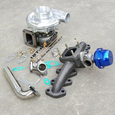AU698.41 • Buy Exhaust Manifold+T4 Turbo AR.96 Oil+Wastegat +Down Pipe Fit Toyota Supra 2JZ-GTE