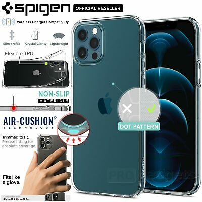 AU29.99 • Buy FREE EXPRESS SPIGEN Liquid Crystal Soft Cover For Apple IPhone 12 / 12 Pro 6.1