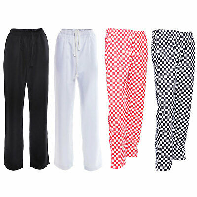 Chef Trousers Chef Red, Black And White Check Chef Pants Uniform Unisex • 12.49£