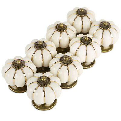 £11.53 • Buy Vintage Shabby Chic Ceramic Door Knobs Handles Drawer Choose Color/Style
