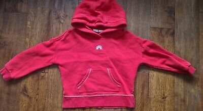 £5 • Buy Red Hoodie 5 - 6 Years Marks And Spencer Rainbow Silver Thread Detail