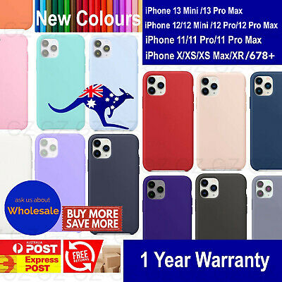 AU9.45 • Buy Silicone Case Cover For IPhone 11 12 13 Mini Pro XS MAX XR 7 8 6 Plus Shockproof