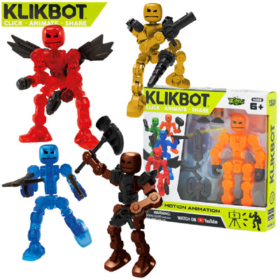 NEW! KLIKBOT Heroes & Villains By Stikbot - Stop Motion Action Toy Play Figure • 8.99£