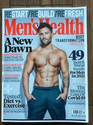 Mens Health Magazine Jan/Feb 2021 Latest Issue • 1.79£