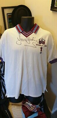 £75 • Buy Autographed Trevor Brooking West Ham 80-81 FA Cup Football Shirt