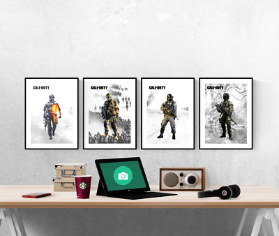 £8 • Buy Call Of Duty Set Of 4 Prints Xbox PS5 Pictures Wall Art Poster
