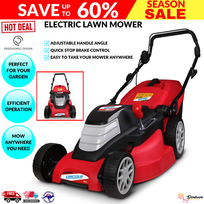 AU183.74 • Buy Portable Push Grass Electric Lawn Mower LE17L 1800W Lincoln 17  Black/Red New