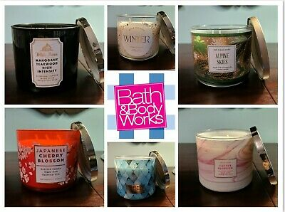 Bath And Body Works 3 Wick Candles • 25.99£
