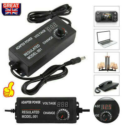 £11.60 • Buy Adjustable AC/DC  Electrical Power Supply Adapter Charger Variable Voltage