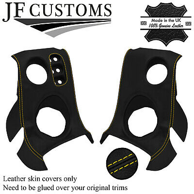 $ CDN218.10 • Buy Yellow Stitch Leather 2x Speaker Vent Dash Sill Covers For Lotus Elise S2 01-06