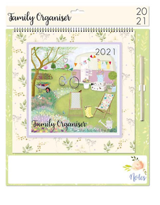 2021 Wall Calendar Family Planner Easy View Monthly Organiser VINTAGE  • 9.99£