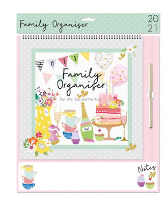 2021 Wall Calendar Family Planner Easy View Monthly Organiser AFTERNOON TEA   • 9.99£