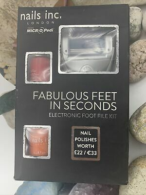 Nails Inc Electronic Foot File Kit - Powered By MICRO Pedi🌺Special Offer🌺 • 44.99£