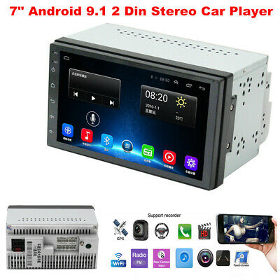 $142.49 • Buy 7  Android 9.1 Stereo Car Player GPS Navigation MP5 2 Din WiFi Quad Core Radio