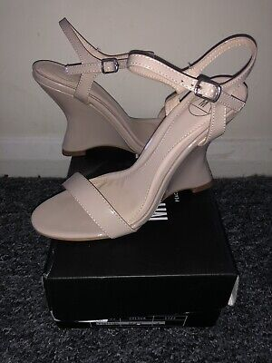 Women's Missguided Extreme Curve Wedge Barely There Sandals Size 4  • 20£