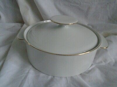 £24.99 • Buy Thomas Germany White/Gold Thin Gold Band Porcelain Tureen With Lid