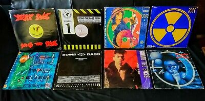 8 Bomb The Bass - Old Skool  - 12  Singles Vinyl Collection / Lot - Vg+ • 34.99£