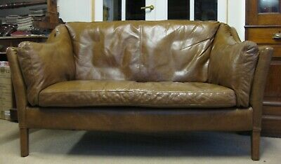 Halo Reggio Leather Two Seater Sofa • 675£