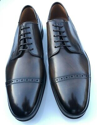 Men's - Bally - Reigan - Mid Brown Toe Cap Oxford Shoes - UK 11 / F • 175£
