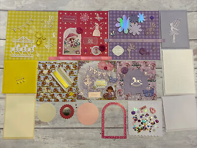 Pretty Card Making Kit For Children, Girls,Papers, Cards, Ribbons,Embellishments • 9.99£