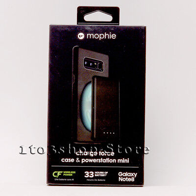 $ CDN24.35 • Buy Mophie Charge Force Samsung Galaxy Note 8 Case W/Powerstation Battery Pack Black