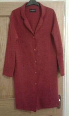 Fantastic Alex & Co 100% Wool Ladies Red Coat UK Size 10 - Excellent Condition • 9.99£