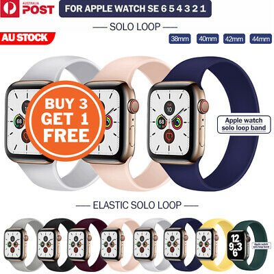 AU7.95 • Buy For Apple Watch Band Series SE 6 5 4 3 2 Solo Loop Silicone Elastic IWatch Strap