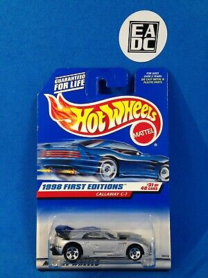 AU8.50 • Buy 1998  Hot Wheels Chevy Corvette Calaway C-7 First Editions Ilver #677 Long