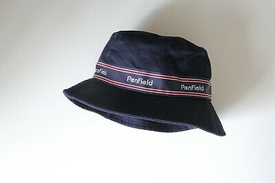 Penfield Bucket Hat, Navy With Stripe Detail • 15£