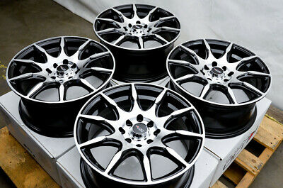 $354 • Buy 15 Wheels Rims Black Scion XB Toyota Corolla Yaris Mazda Miata Mini Cooper 4 Lug