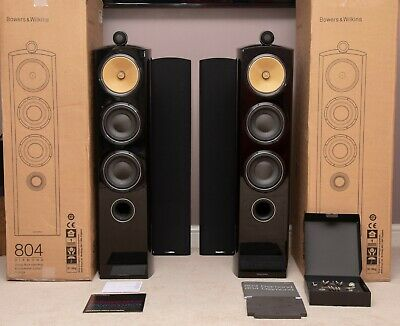 ! Boxed & Accessories ! B&W 804D2 804 D2 Bowers Wilkins Speakers DIAMOND Piano • 3,695£