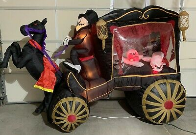 $ CDN326.65 • Buy Gemmy Halloween Inflatable Horse Drawn Carriage Hearse 8 Ft Light Up Skeleton