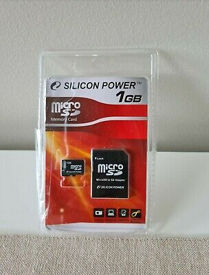 AU4.50 • Buy Memory Micro Card Silicon Power 1gb With Sd Adapter